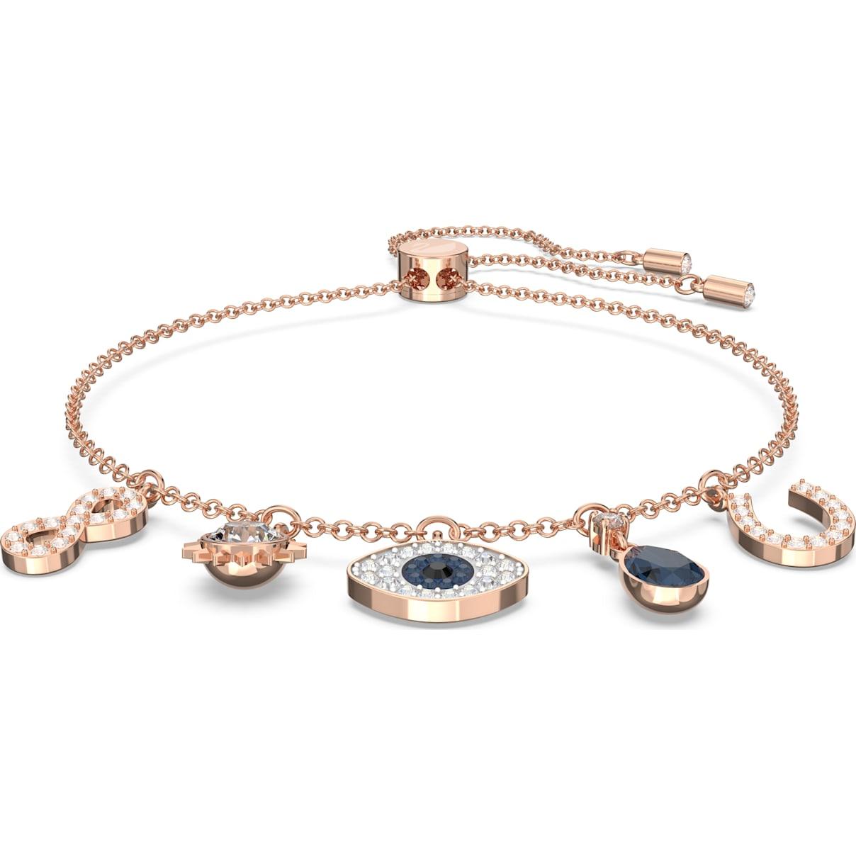 Swarovski Swarovski Symbolic Bracelet, Multi-colored, Rose-gold tone plated