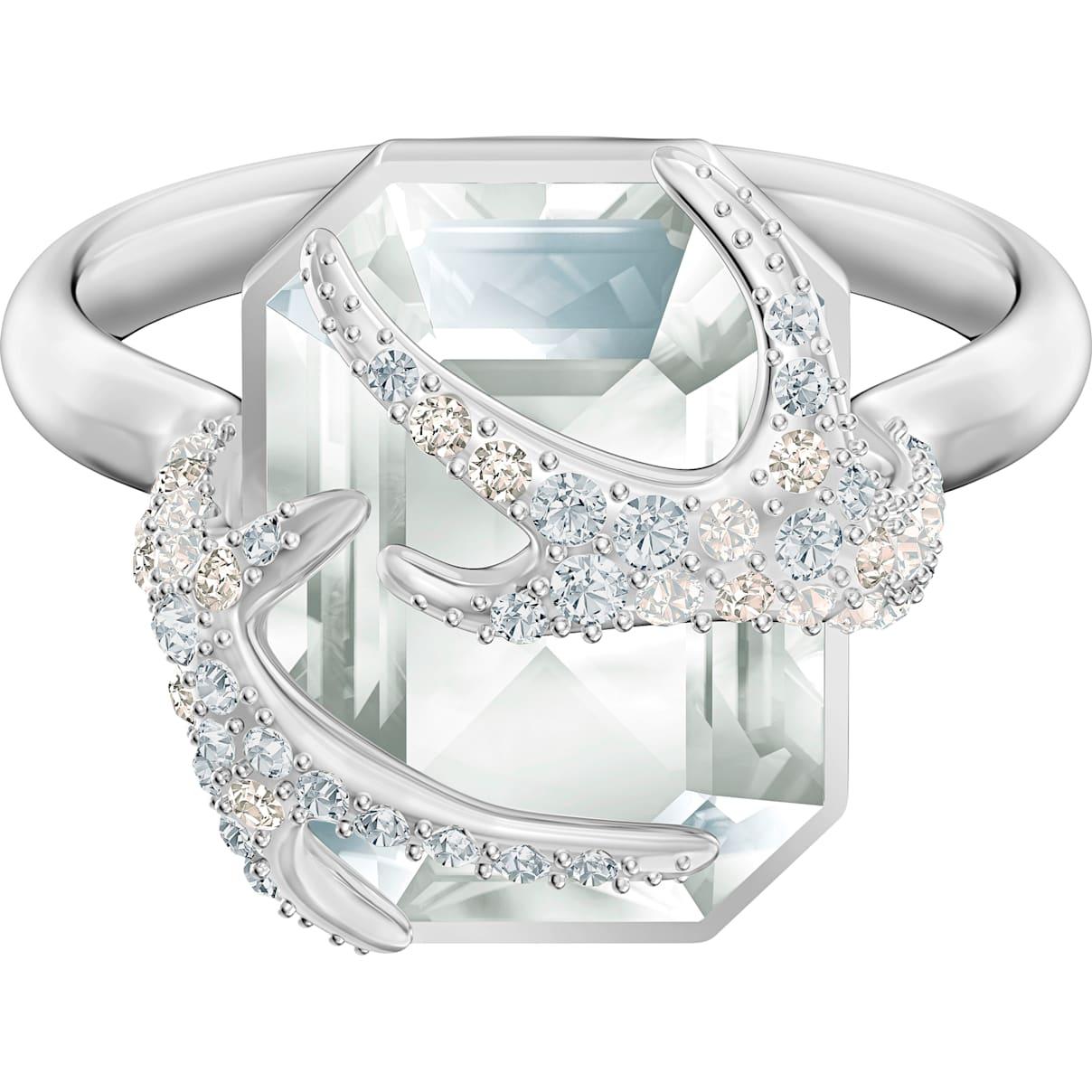 Swarovski Polar Bestiary Cocktail Ring, Multi-colored, Rhodium plated