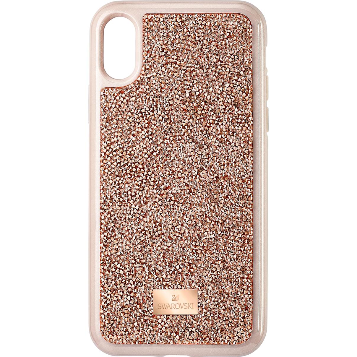 Swarovski Glam Rock Smartphone Case, iPhone® X/XS, Pink Gold