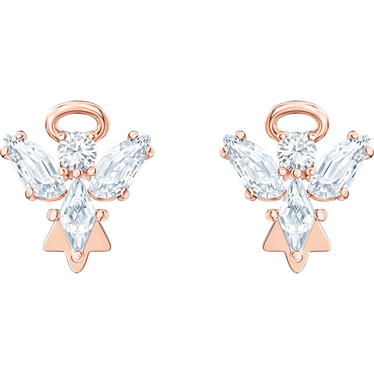 Swarovski Magic Angel Stud Pierced Earrings, White, Rose-gold tone plated