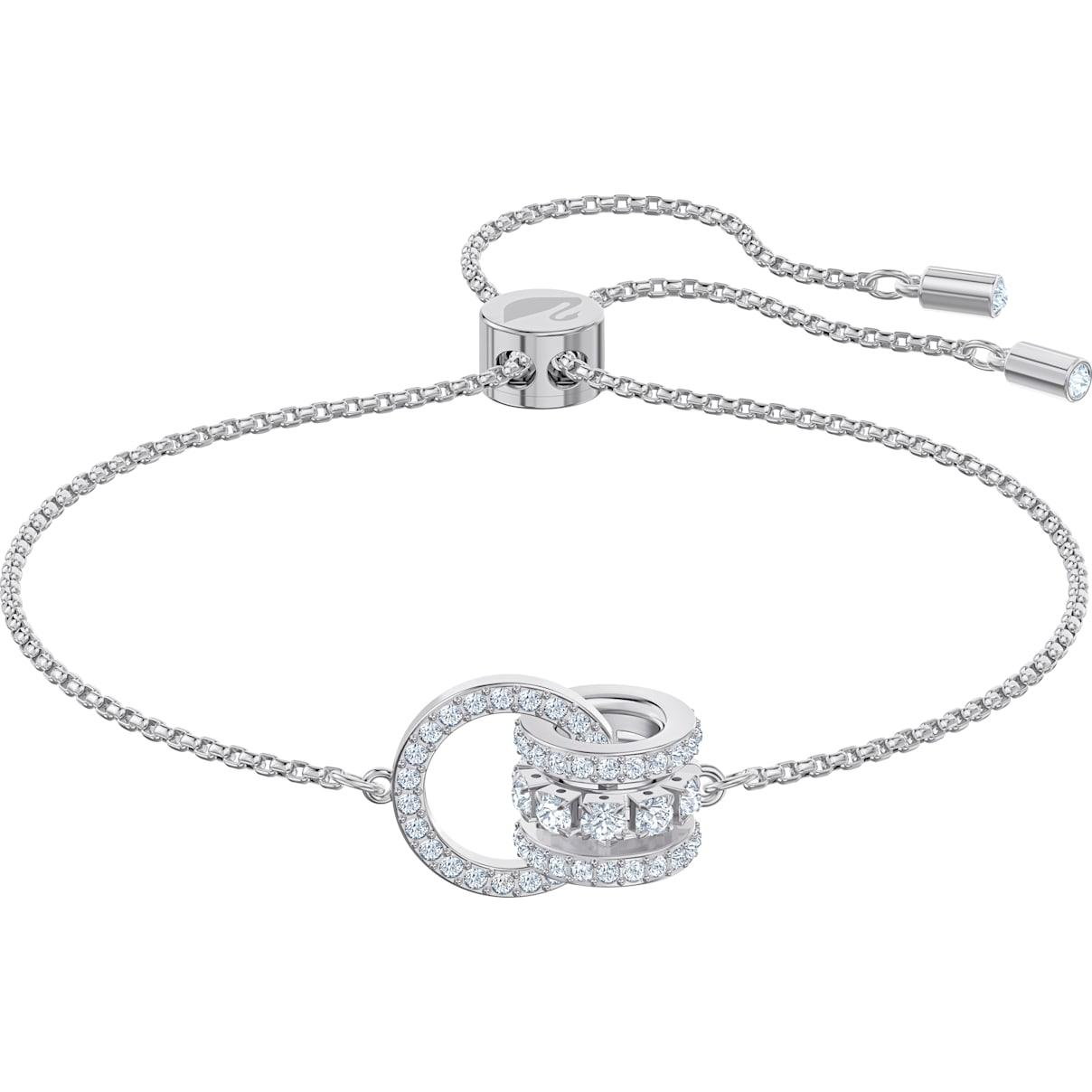 Swarovski Further Bracelet, White, Rhodium plated