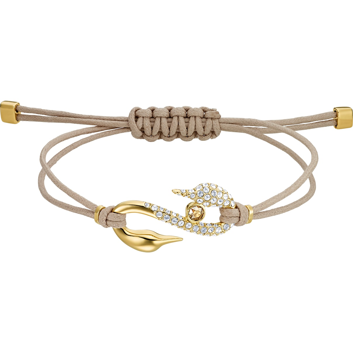 Swarovski Swarovski Power Collection Hook Bracelet, Brown, Gold-tone plated