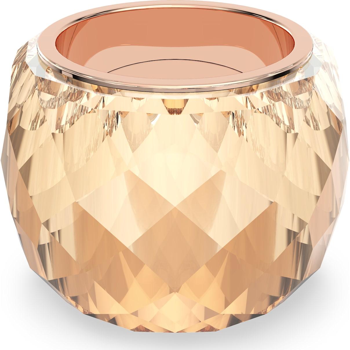 Swarovski Swarovski Nirvana Ring, Brown, Rose-gold tone PVD