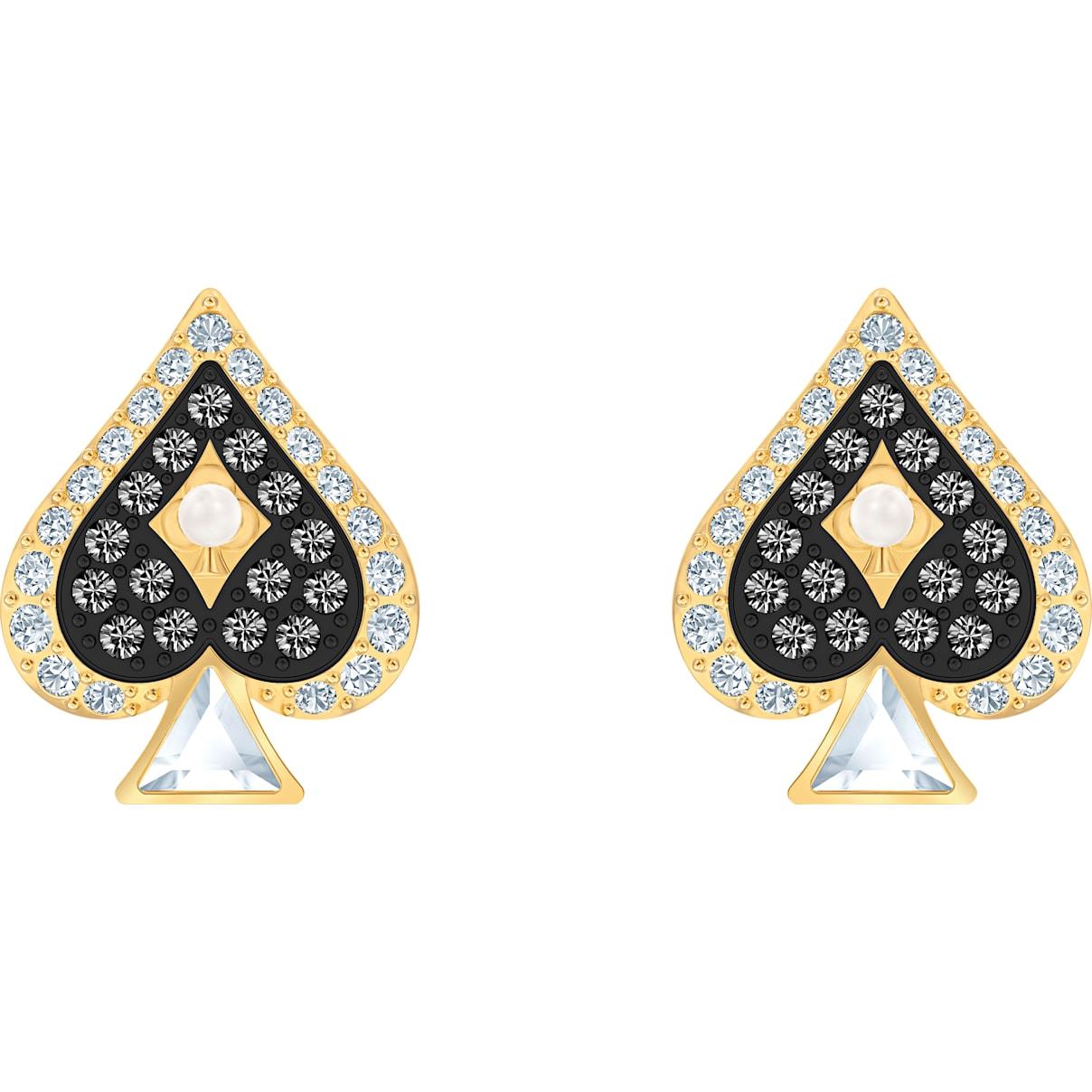 Swarovski Tarot Magic Stud Pierced Earrings, Multi-colored, Gold-tone plated