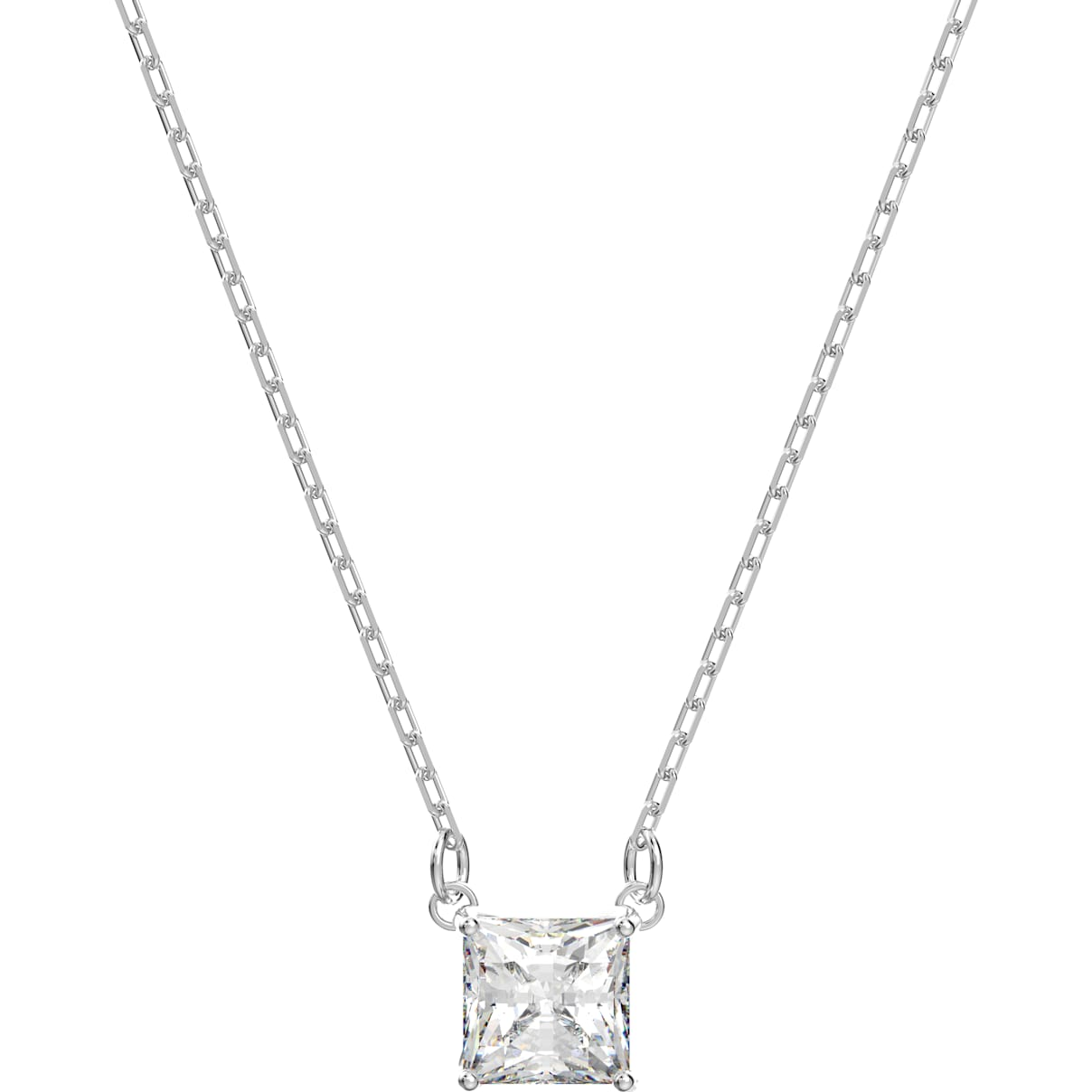 Swarovski Attract Necklace, White, Rhodium plated