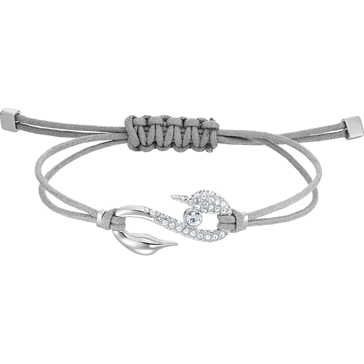 Swarovski Swarovski Power Collection Hook Bracelet, Gray, Rhodium plated