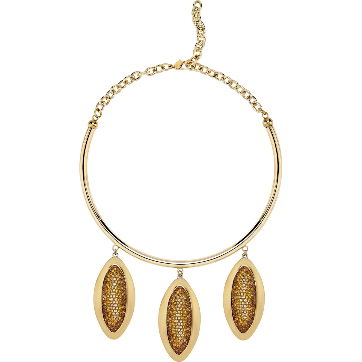 Swarovski Evil Eye Statement Necklace, Brown, Gold-tone plated