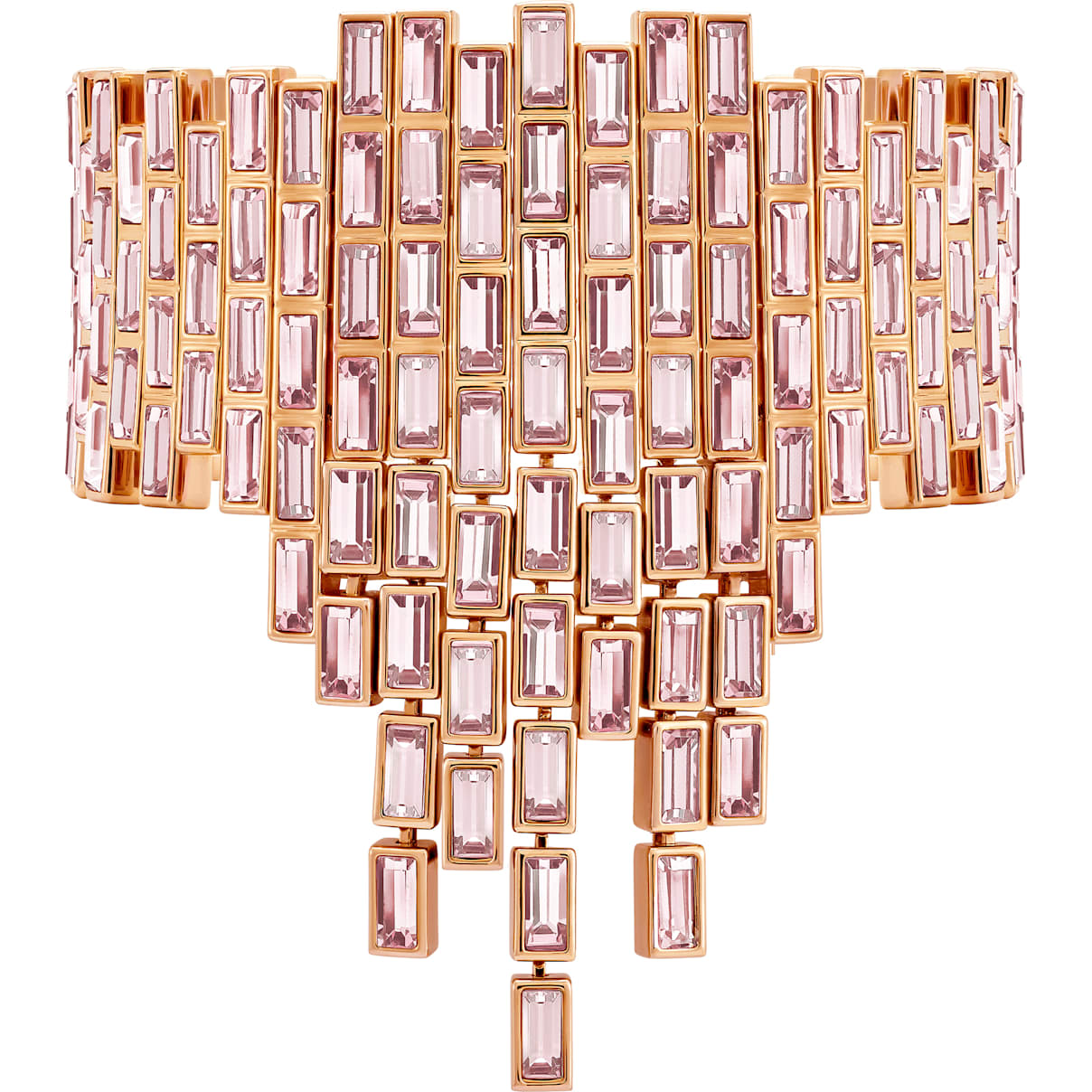 Swarovski Fluid Statement Bracelet, Violet, Rose-gold tone plated