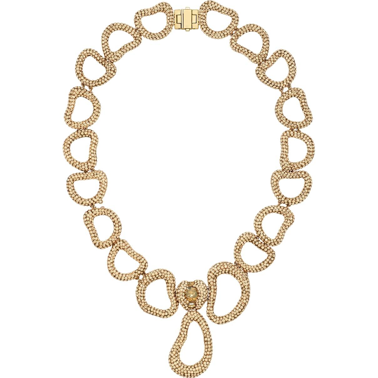 Swarovski Tigris Statement Necklace, Brown, Gold-tone plated