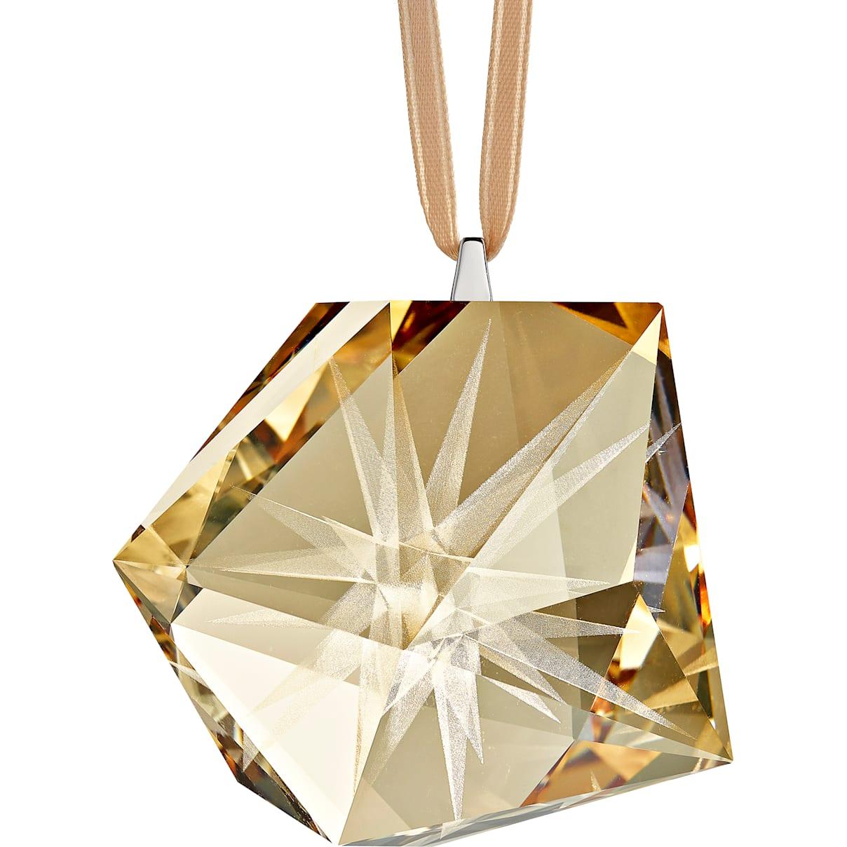 Swarovski Daniel Libeskind Frosted Star Ornament, Golden