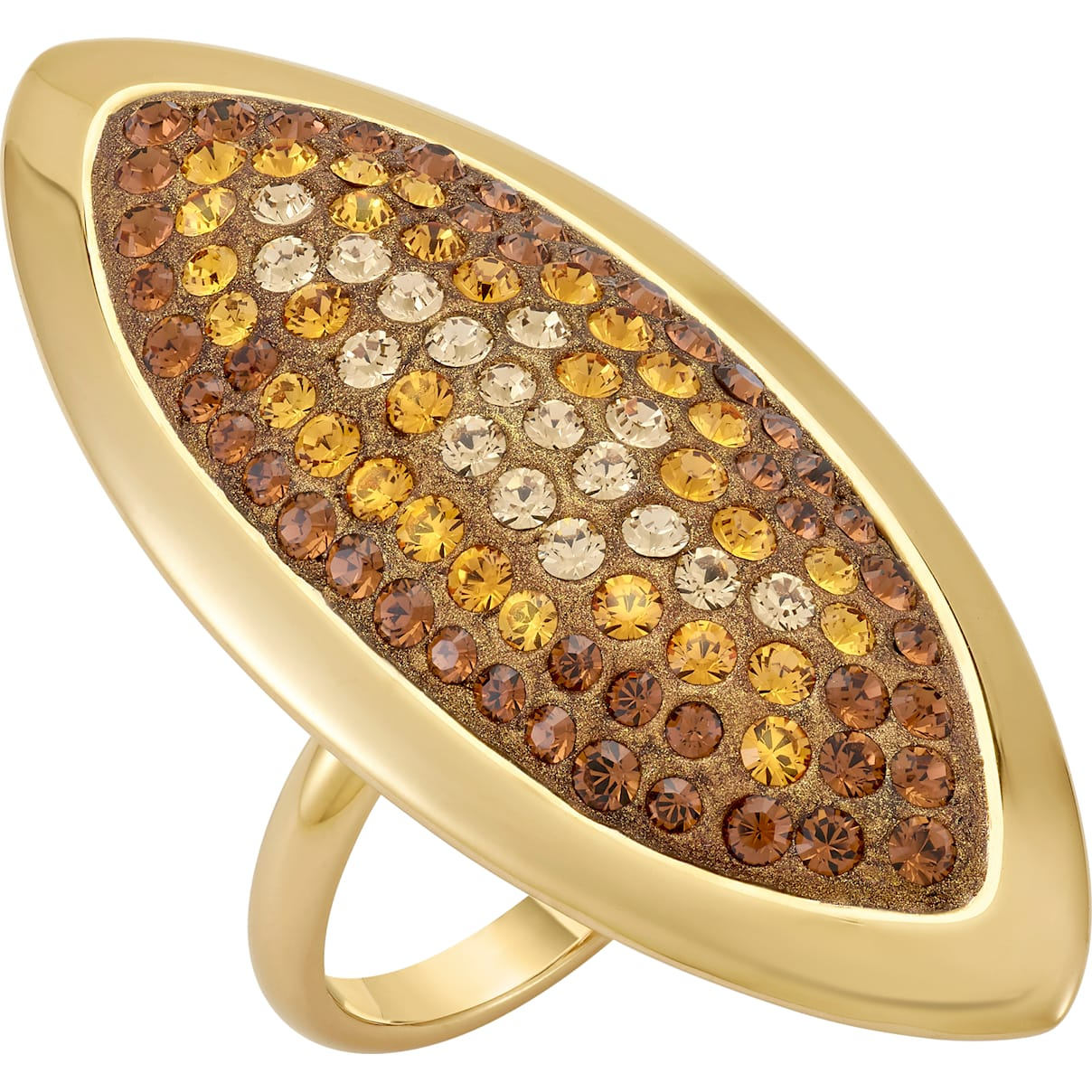 Swarovski Evil Eye Ring, Large, Brown, Gold-tone plated