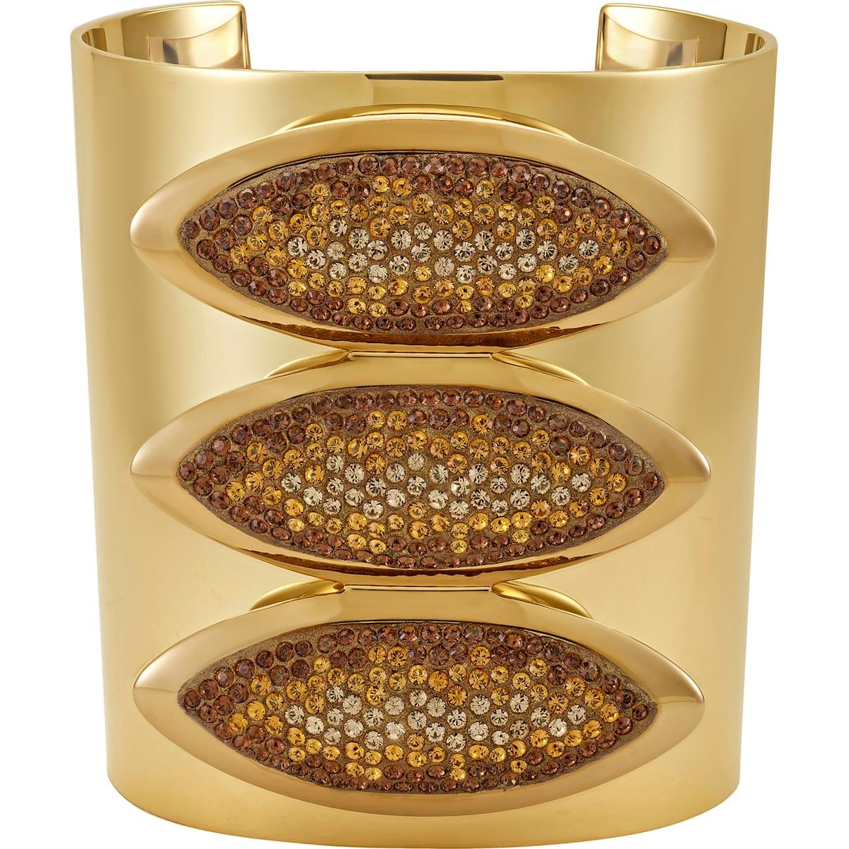 Swarovski Evil Eye Statement Cuff, Brown, Gold-tone plated