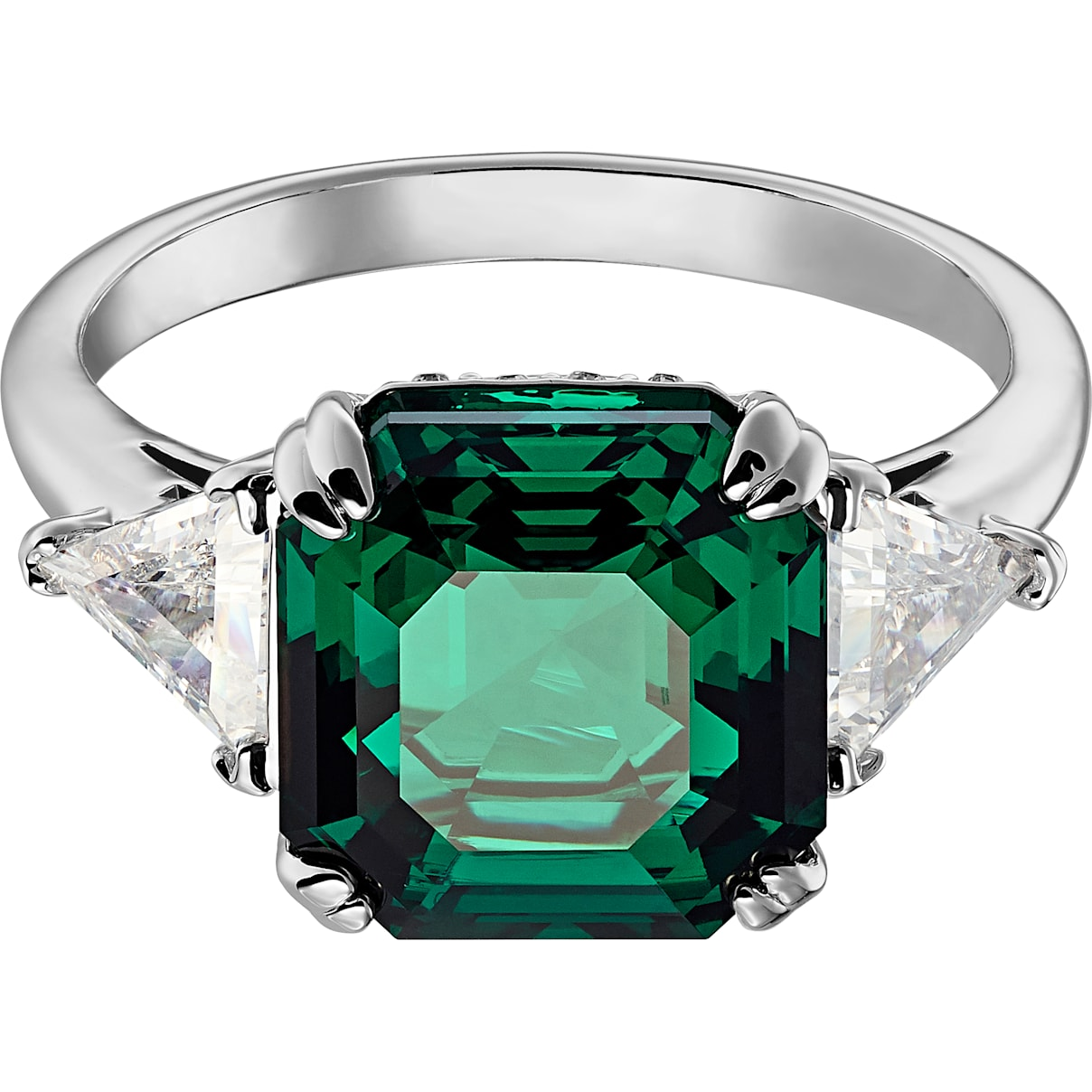 Swarovski Attract Cocktail Ring, Green, Rhodium plated