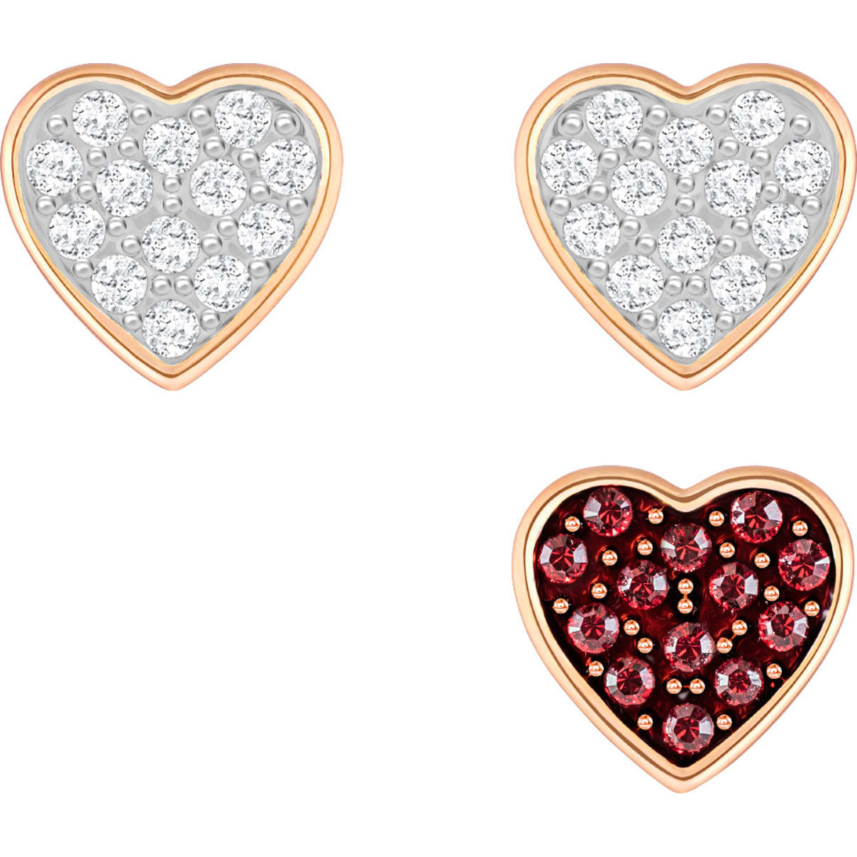 Swarovski Crystal Wishes Pierced Earring Set, Multi-colored, Rose-gold tone plated