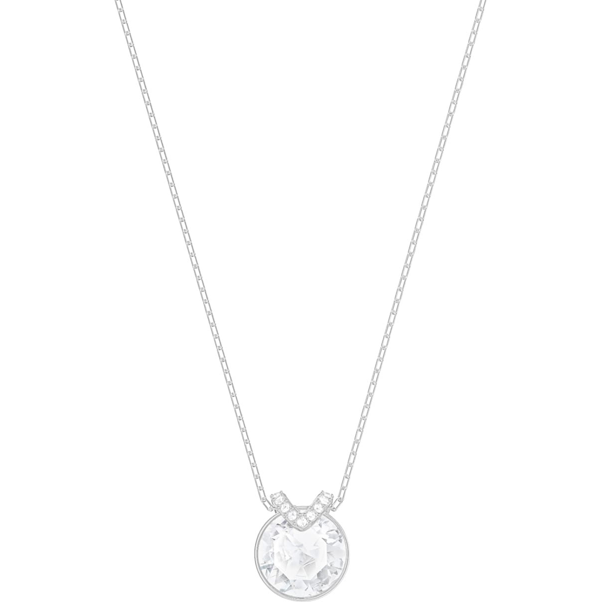 Swarovski Bella V Pendant, White, Rhodium plated