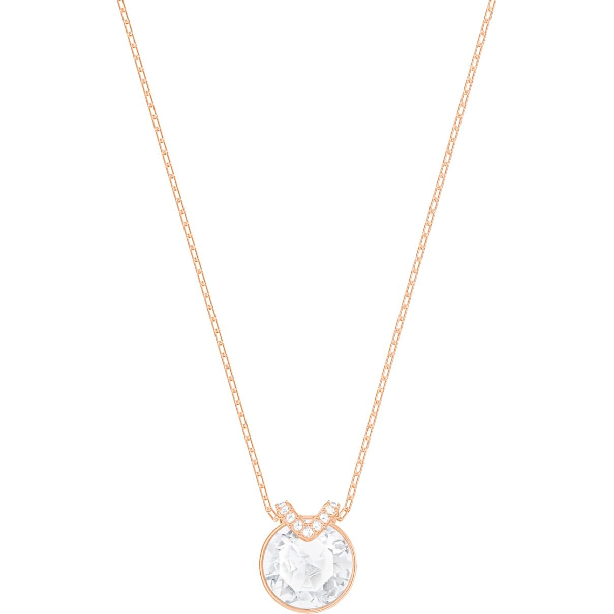 Swarovski Bella V Pendant, White, Rose-gold tone plated