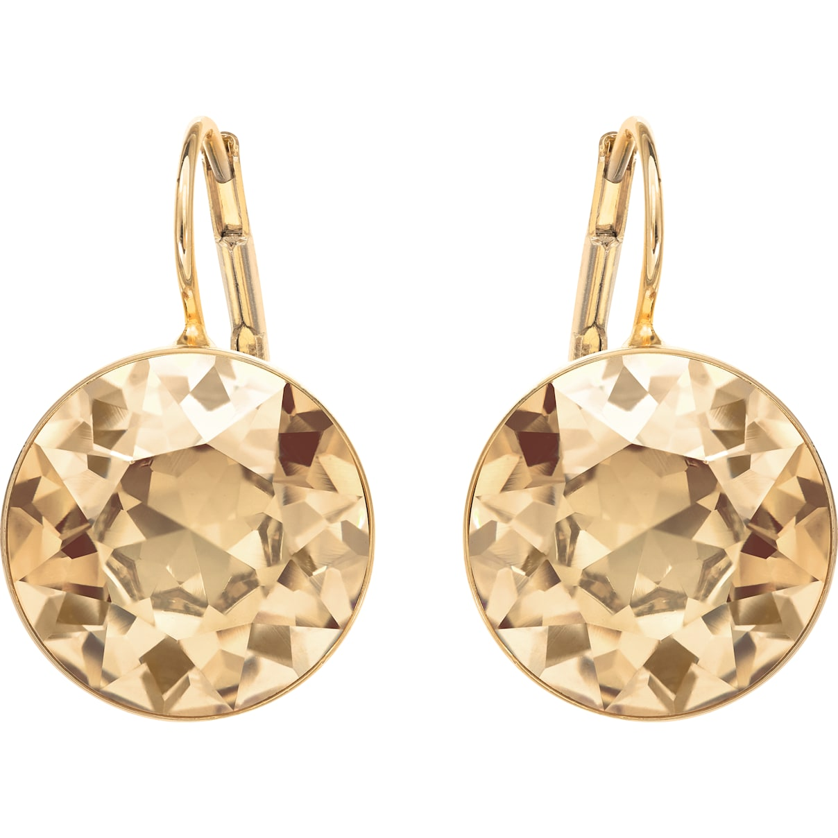 Swarovski Bella Pierced Earrings, Brown, Gold-tone plated