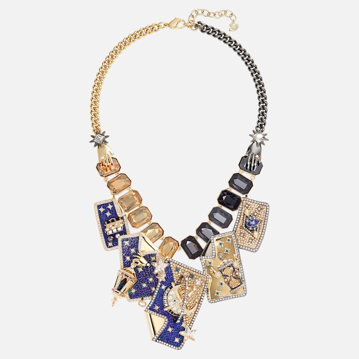 Chromancy Halskette, mehrfarbig, Metallmix