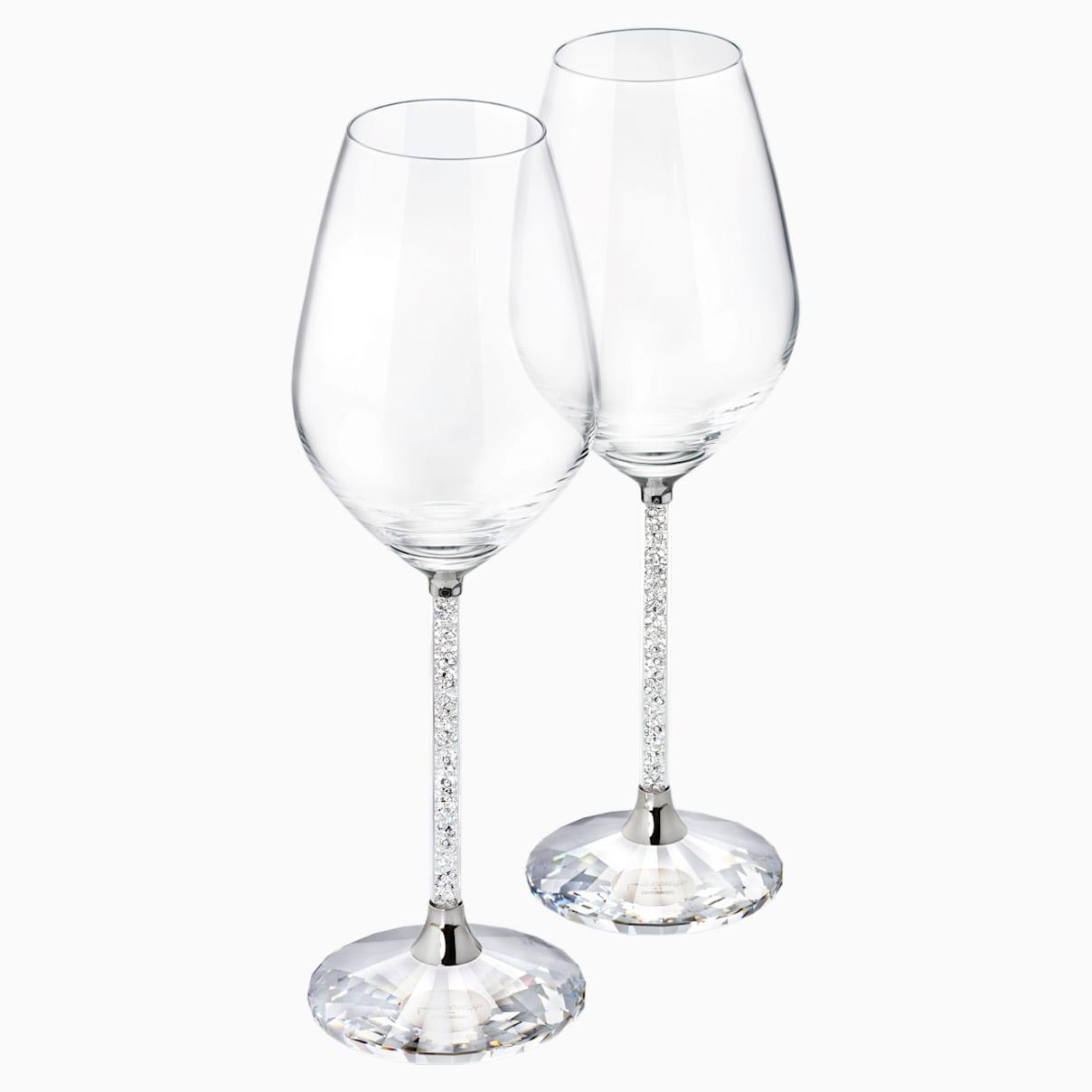 Verres à vin crystalline set de 2