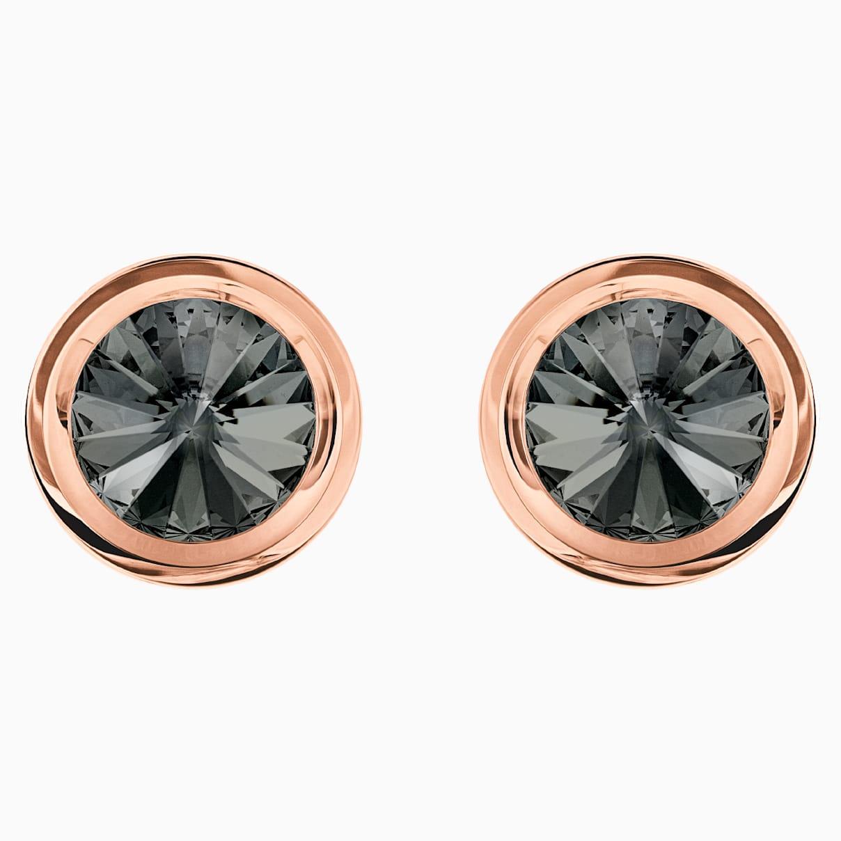Boutons de manchettes round gris métal doré rose