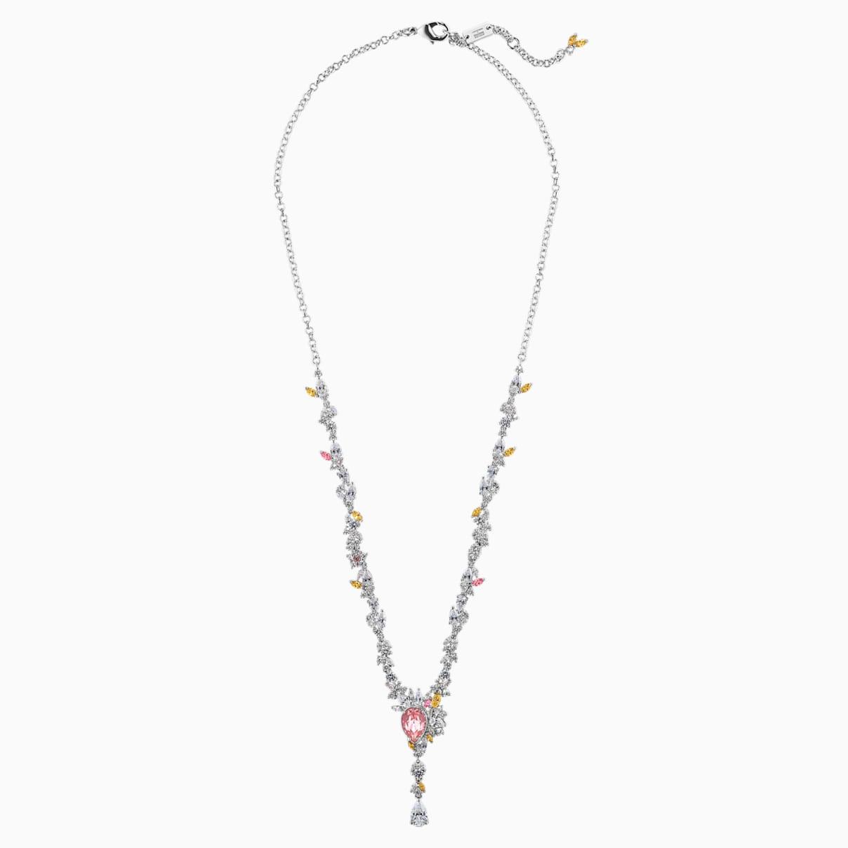 Collier Botanical, multicolore clair, métal rhodié