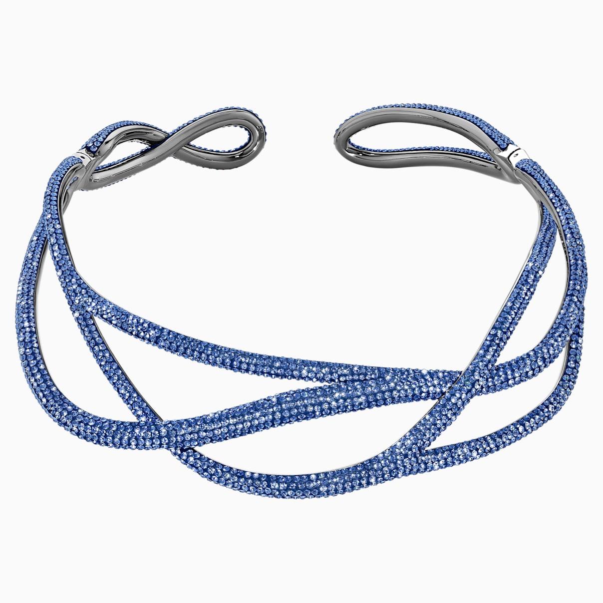 Tigris Statement Halsband, blau, rutheniert