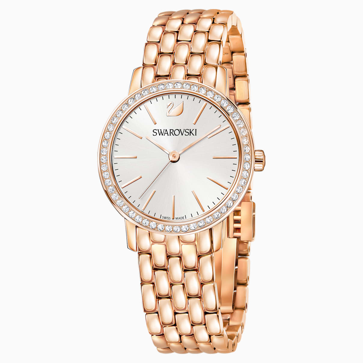 Graceful Uhr, Metallarmband, Rosé vergoldetes PVD-Finish