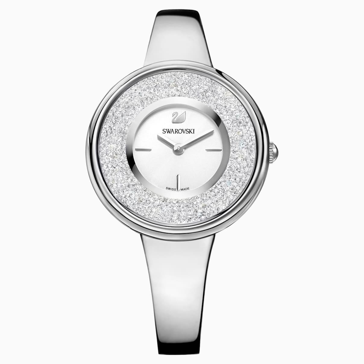 Crystalline Pure Uhr, Metallarmband, weiss, Edelstahl