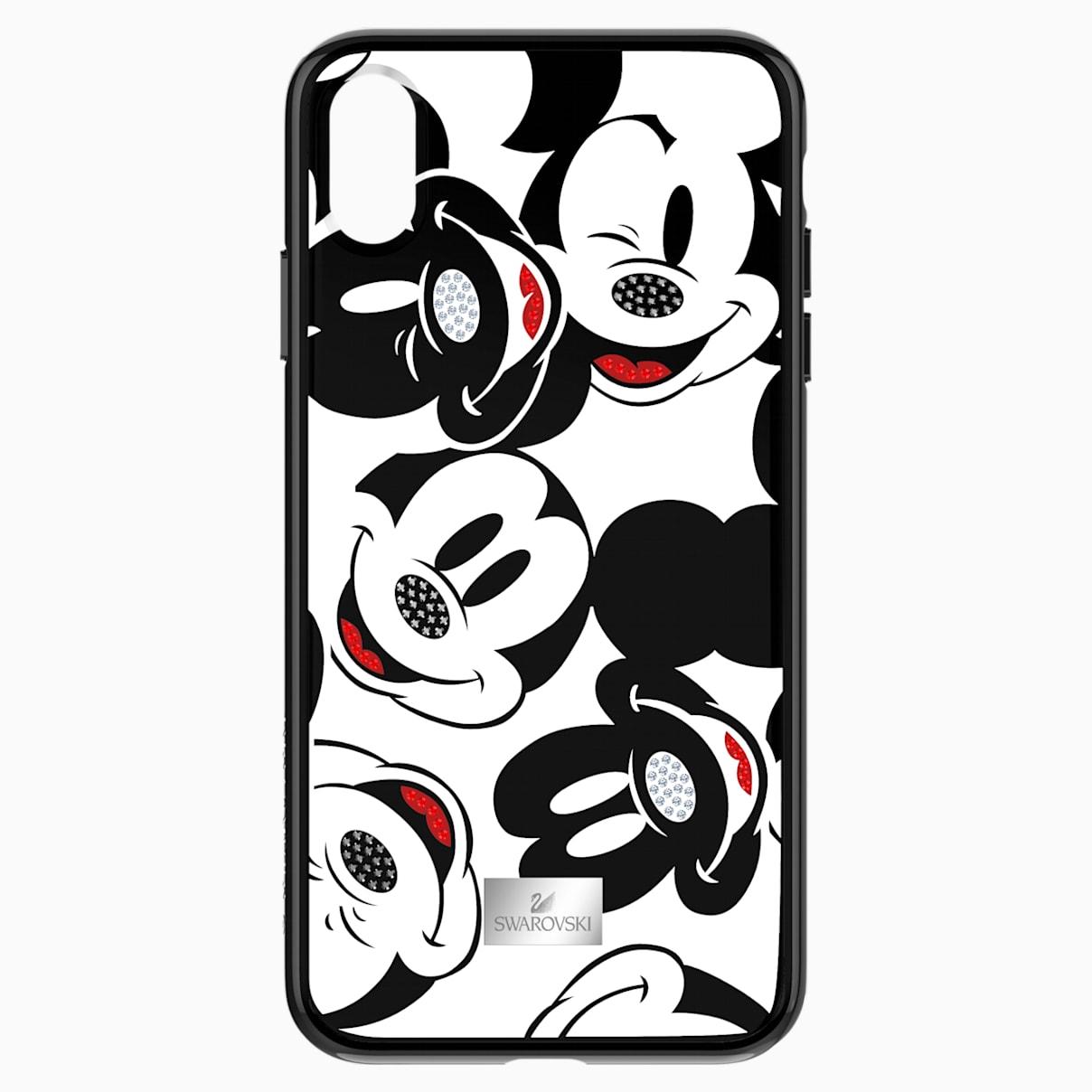 Coque rigide pour smartphone avec cadre amortisseur intégré Mickey Face, iPhone® XS Max, noir