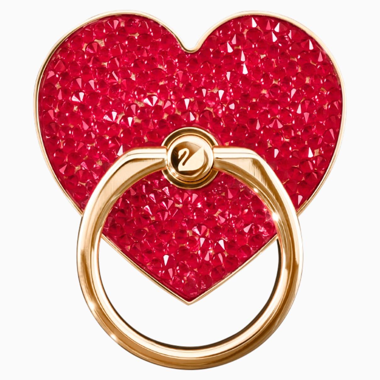 Anneau autocollant Glam Rock, rouge, combinaison de métaux plaqués