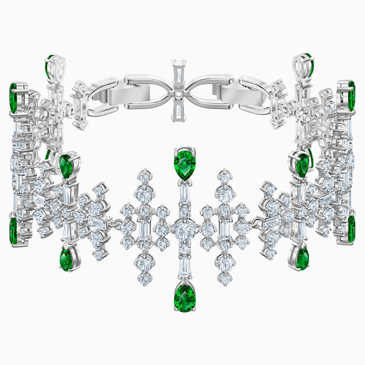 Bracelet Perfection, vert, Métal rhodié