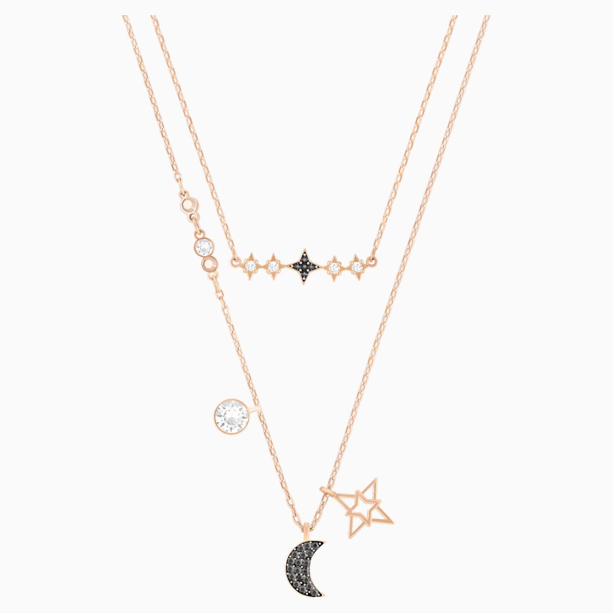 Set Collane Swarovski Symbolic Moon, multicolore, Mix di placcature