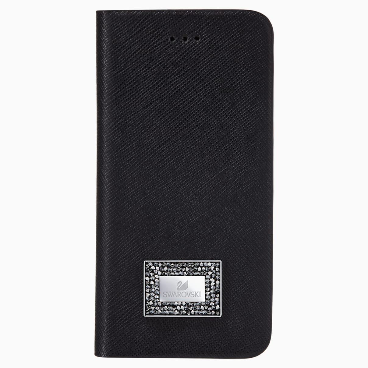 Custodia a portafoglio per smartphone con bordi protettivi, Samsung Galaxy S® 7, Nero