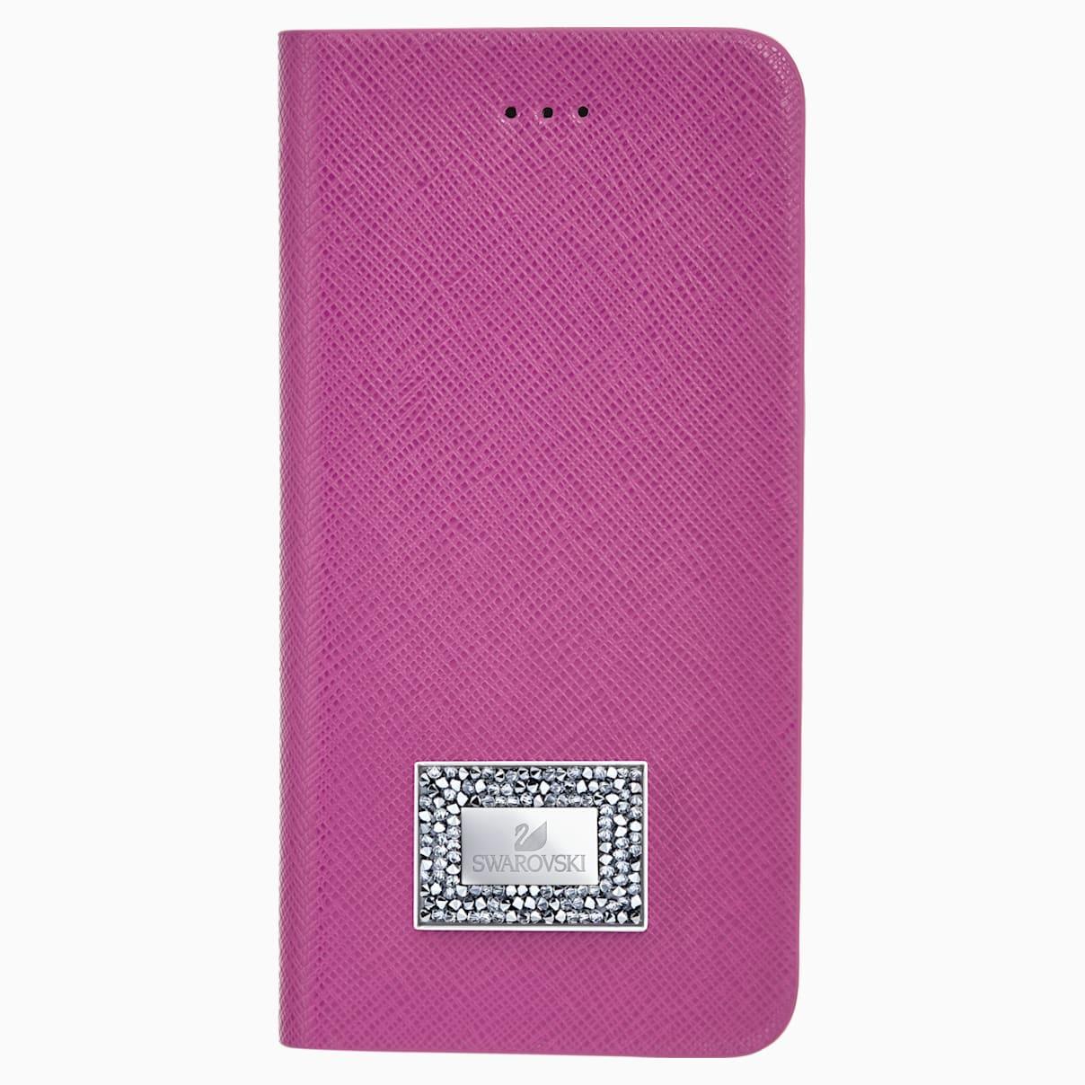 Custodia a portafoglio per smartphone con bordi protettivi, Samsung Galaxy S® 7, Rosa