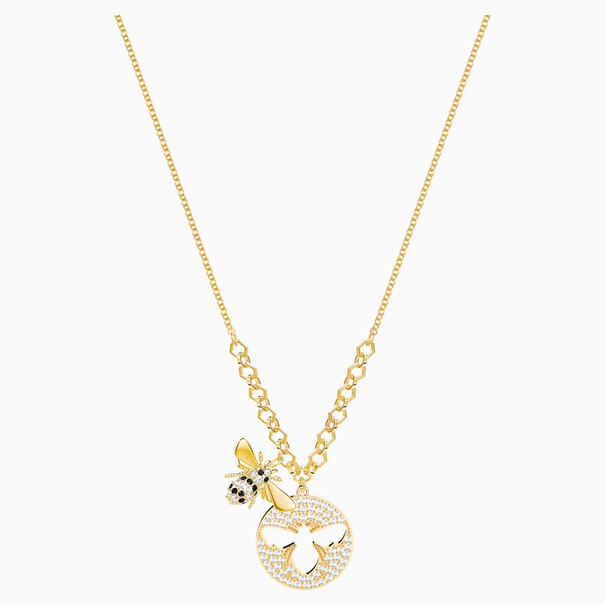 Collana Lisabel, bianco, Placcato oro