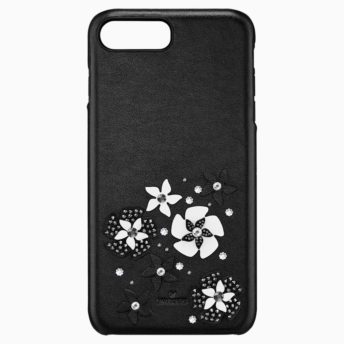Levně Swarovski Mazy Smartphone Case with integrated Bumper, iPhone® 8 Plus, Black