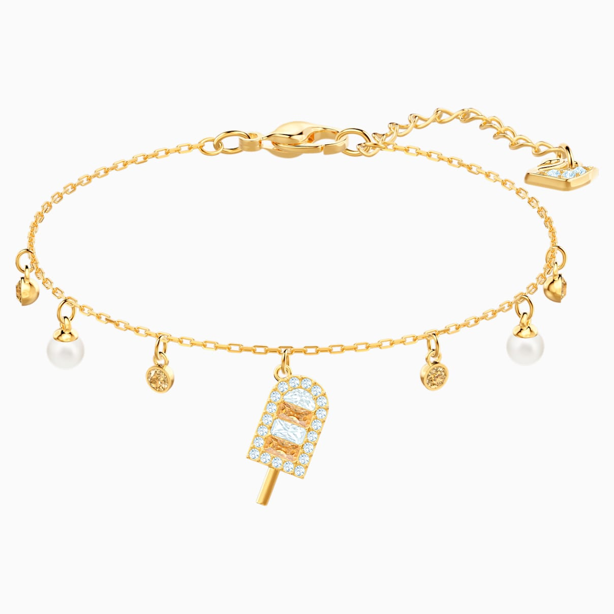Levně Swarovski No Regrets Ice Cream Bracelet, Multi-colored, Gold-tone plated