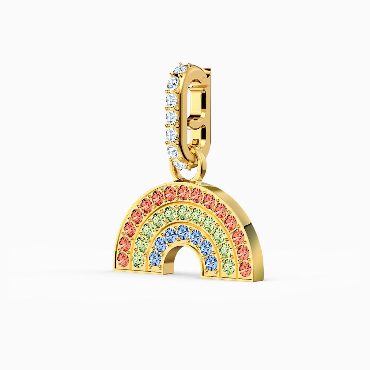 Levně Swarovski Přívěsek Rainbow z kolekce Remix, světlý, vícebarevný, pozlacený