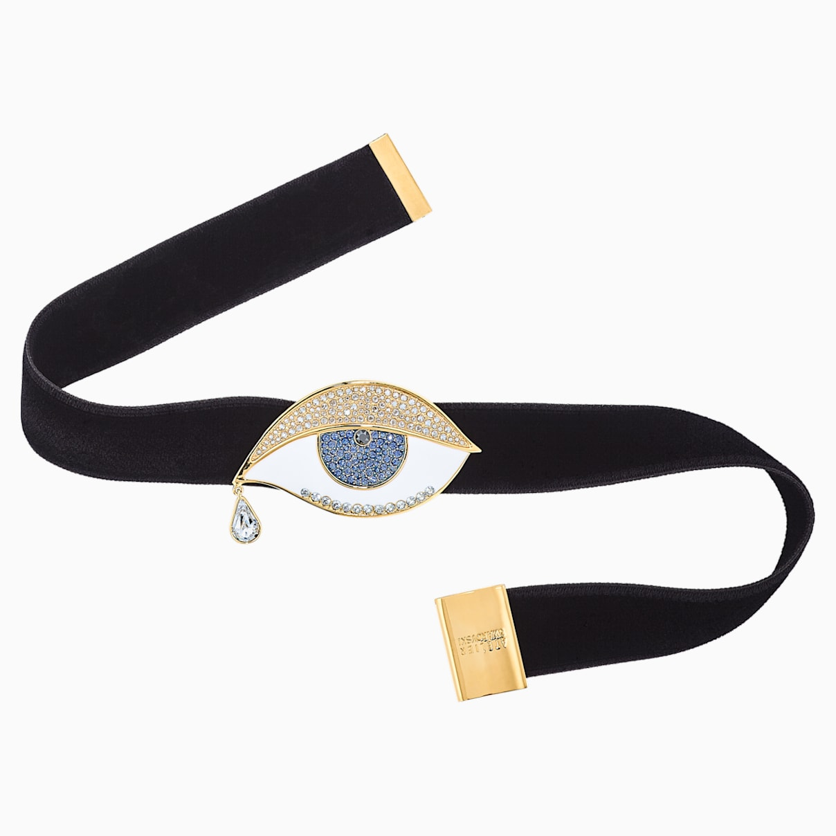 Girocollo Surreal Dream, occhio, nero, placcato color oro