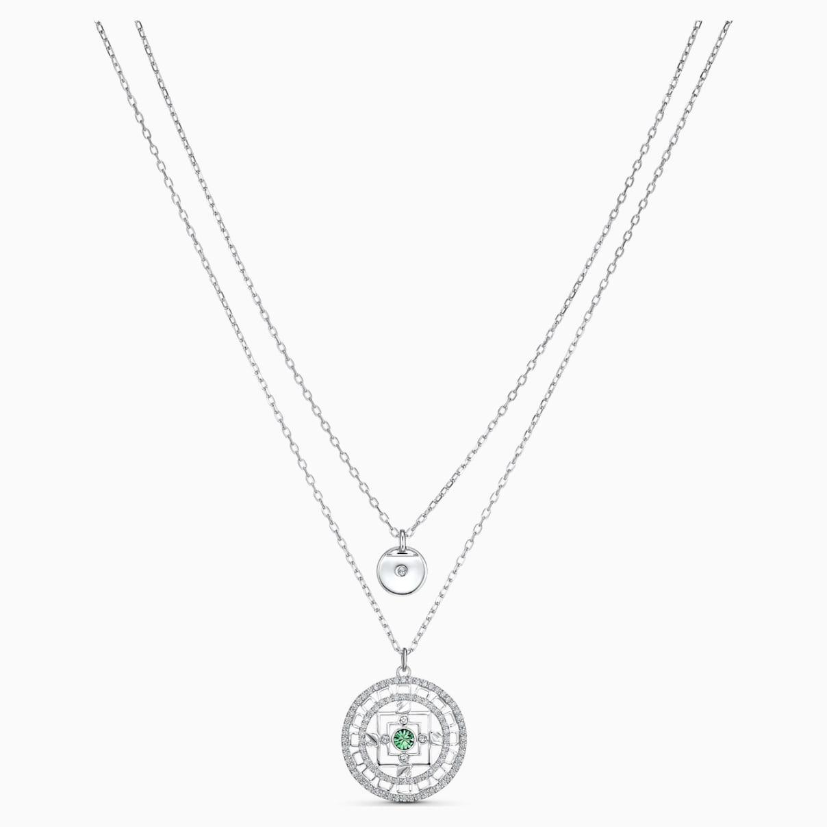 Collana Swarovski Symbolic Mandala, bianco, placcato rodio