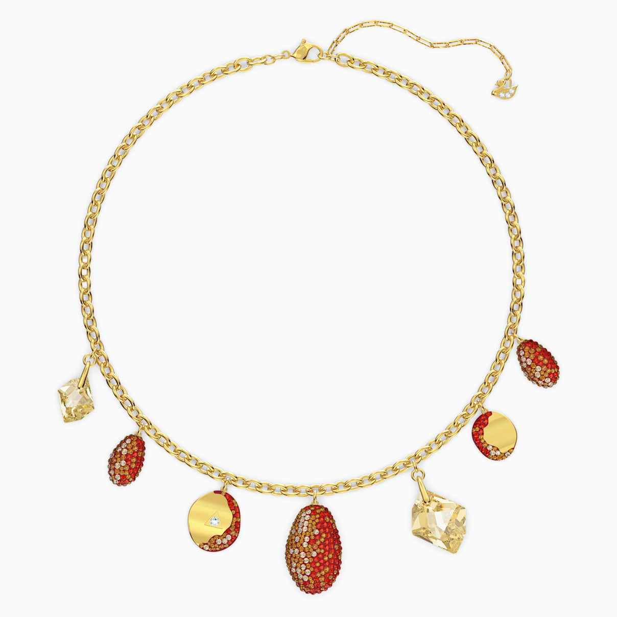 Collana The Elements, rosso, mix di placcature