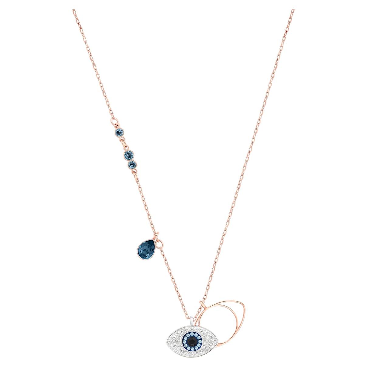 Pendente Swarovski Symbolic Evil Eye, azzurro, Mix di placcature