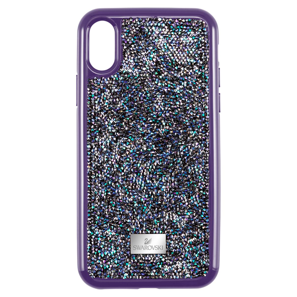 Custodia per smartphone con bordi protettivi Glam Rock, iPhone® X/XS, viola