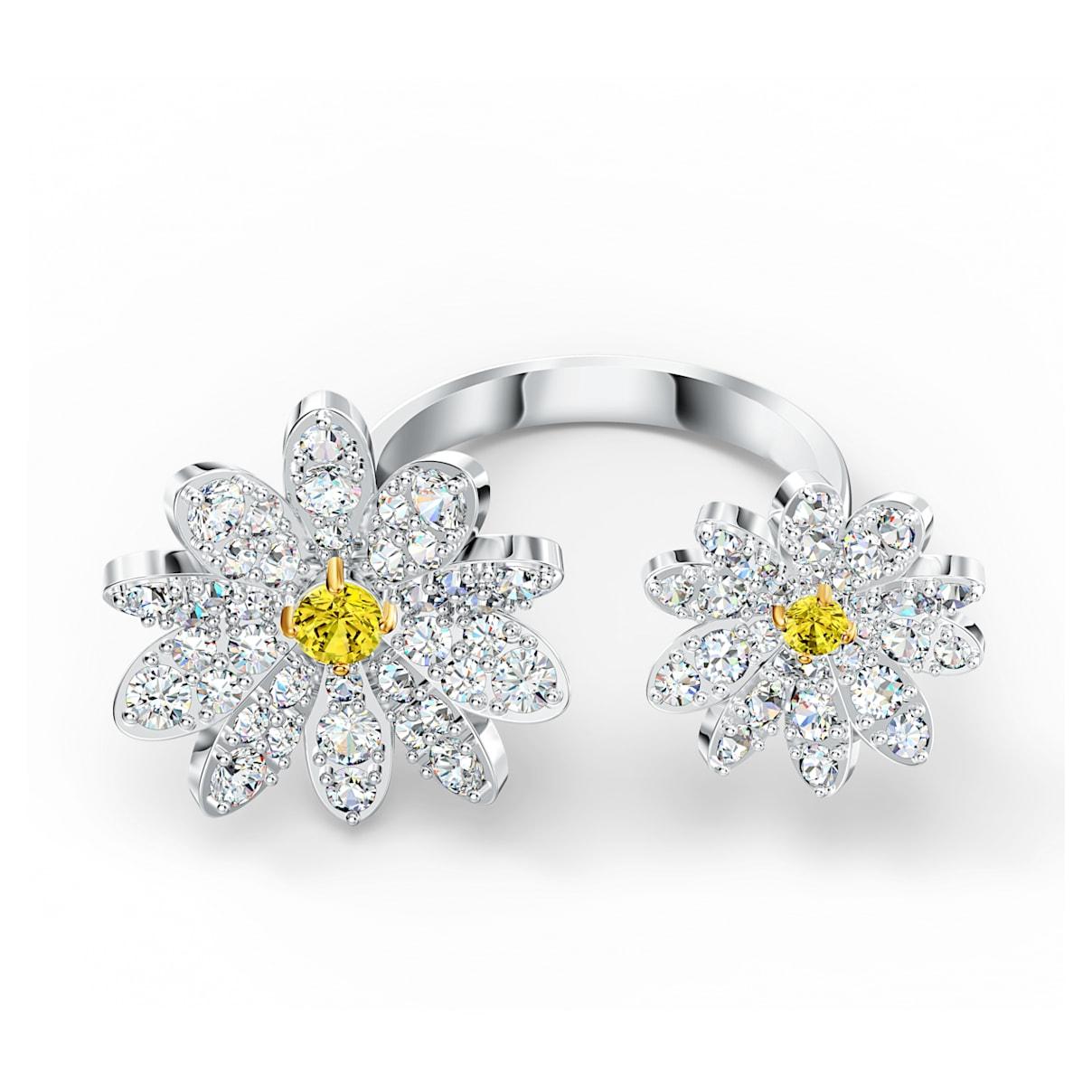 Anello aperto Eternal Flower, giallo, mix di placcature