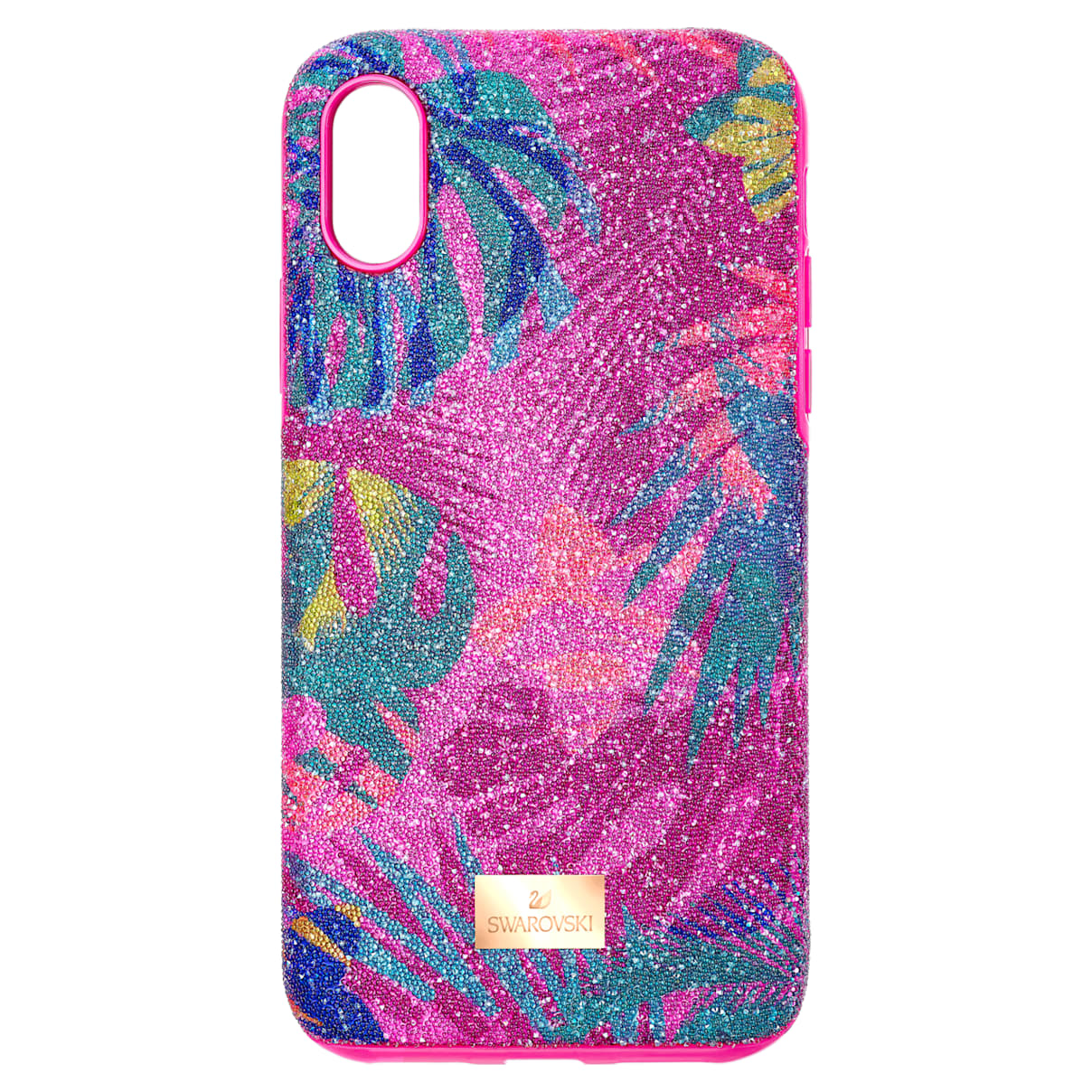 Custodia per smartphone con bordi protettivi Tropical, iPhone® X/XS, multicolore scuro