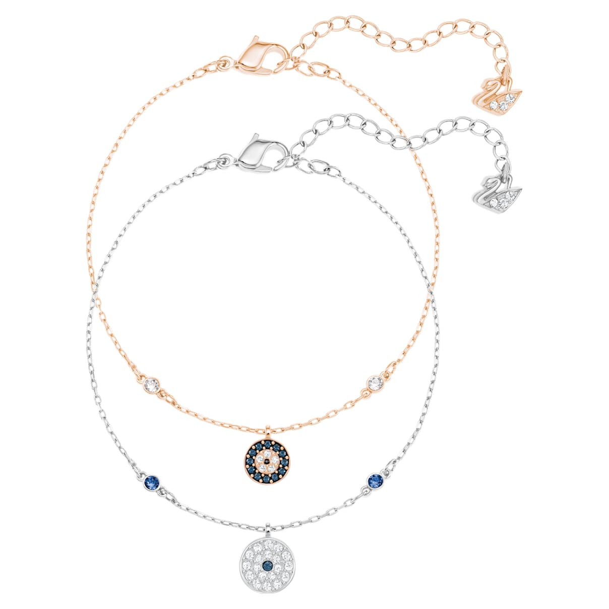 Crystal Wishes Evil Eye Set, Multi-colored, Mixed metal finish