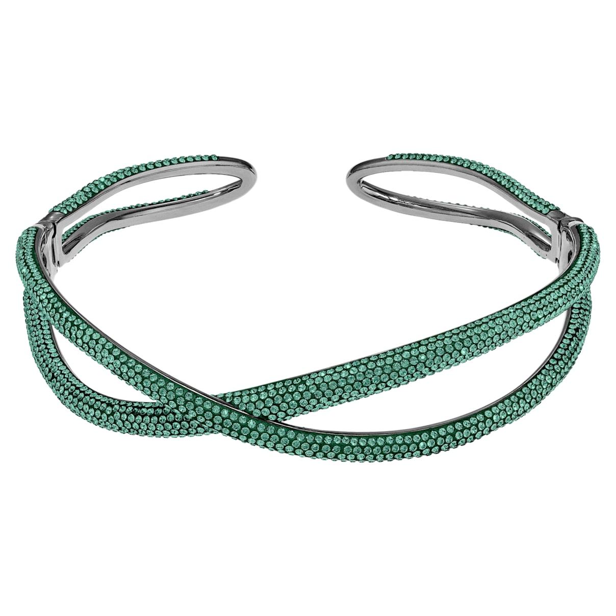 Girocollo Tigris, verde, placcato rutenio