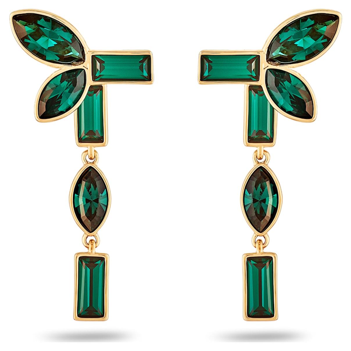 Beautiful Earth by Susan Rockefeller Pierced Earring Jackets, Green, Gold-tone plated