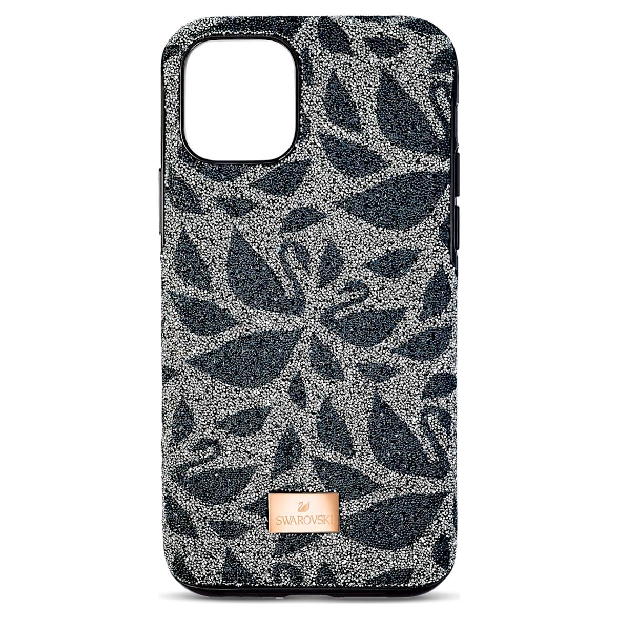 Custodia per smartphone con bordi protettivi Swarovski Swanflower, iPhone® 11 Pro Max, nero