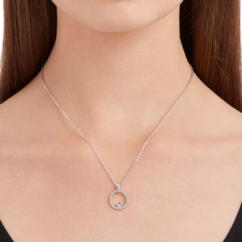 irregular Seguid así embudo  Creativity Circle Pendant, White, Rhodium plated | Swarovski.com